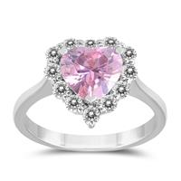 8MM Created Pink and Purple Topaz Ring in .925 Sterling Silver