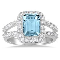 1.75 Carat TW Blue and White Topaz Ring in .925 Sterling Silver