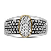 White Sapphire Cluster Ring In .925 Sterling Silver