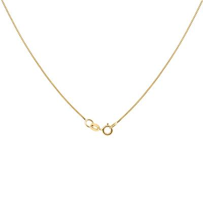"""14K Yellow Gold 16"""" Box Chain with Spring Ring Clasp"""