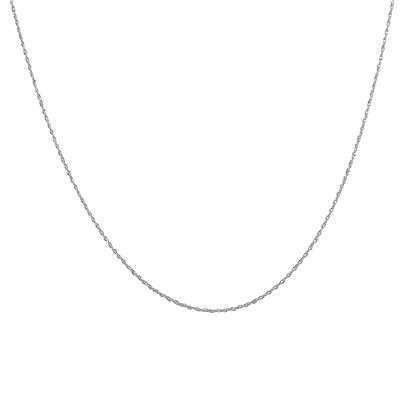 """14K White Gold 16"""" Rope Chain with Spring Ring Clasp"""