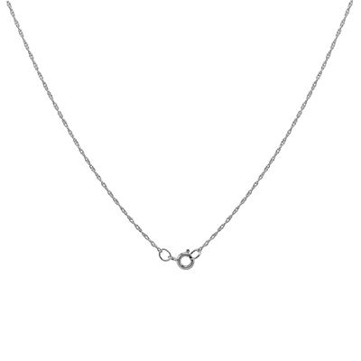 """10K White Gold 20"""" Rope Chain with Spring Ring Clasp"""
