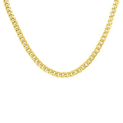 14K Yellow Gold 6.5mm Miami Cuban Chain with Lobster Clasp - 22 Inch