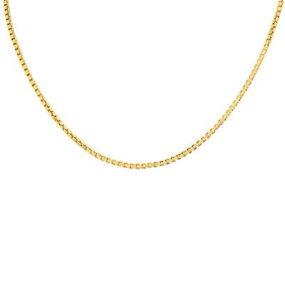 Fine Necklaces & Pendants 18 14K Yellow Gold 0.8mm Polish Faceted Singapore Chain Spring Clasp Fine Jewelry
