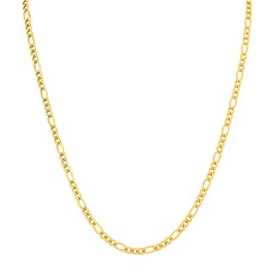 14K Yellow Gold Filled 3.5mm Figaro Chain with Lobster Clasp - 22 Inch
