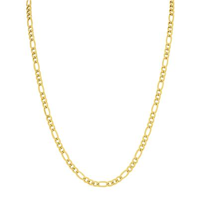 14K Yellow Gold Filled 4.3mm Figaro Chain with Lobster Clasp - 24 Inch