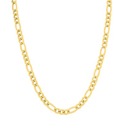 14K Yellow Gold Filled 6mm Figaro Chain with Lobster Clasp - 24 Inch
