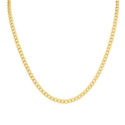 14K Yellow Gold Filled 4.1MM Curb Link Chain with Lobster Clasp - 18 Inch