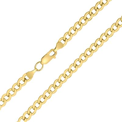 14K Yellow Gold Filled 4.9MM Curb Link Chain with Lobster Clasp - 18 INCH