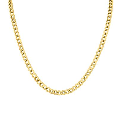 14K Yellow Gold Filled 4.9MM Curb Link Chain with Lobster Clasp - 30 INCH