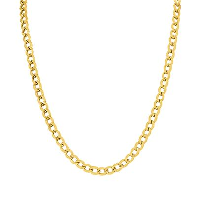 14K Yellow Gold Filled 5.8MM Curb Link Chain with Lobster Clasp - 18 Inch