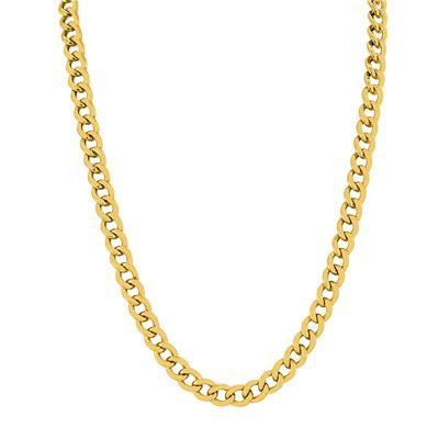 14K Yellow Gold Filled 7.4MM Curb Link Chain with Lobster Clasp - 24 Inch