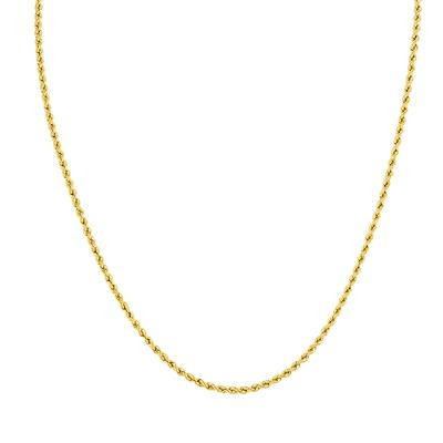 14K Yellow Gold Filled 2.1MM Rope Chain with Lobster Clasp  - 16 Inch