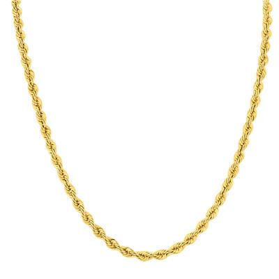 14K Yellow Gold Filled 4.5MM Twisted Rope Chain - 24 Inches
