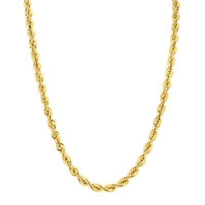 14K Yellow Gold Filled 6MM Rope Chain with Lobster Clasp  - 22 Inch