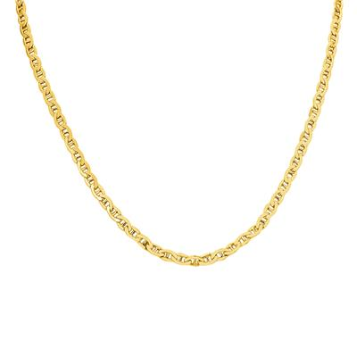 14K Yellow Gold Filled 4.2MM Mariner Link Chain with Lobster Clasp - 22 Inch