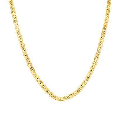 14K Yellow Gold Filled 4.9MM Mariner Link Chain with Lobster Clasp   - 24 Inch
