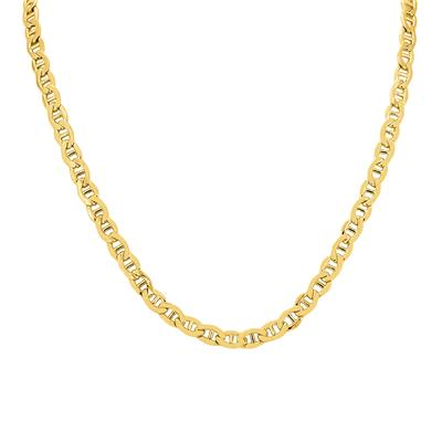 14K Yellow Gold Filled 5.6MM Mariner Link Chain with Lobster Clasp - 22 Inch