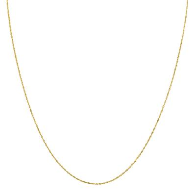 10K Yellow Gold 0.8MM Singapore Chain with Spring Ring Clasp - 18 Inch