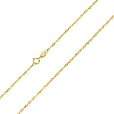 10K Yellow Gold 1.5mm Singapore Chain with Spring Ring Clasp - 20 Inch