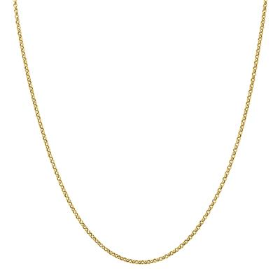 10K Yellow Gold 1.9mm Classic Rolo Chain with Spring Ring Clasp - 18 Inch