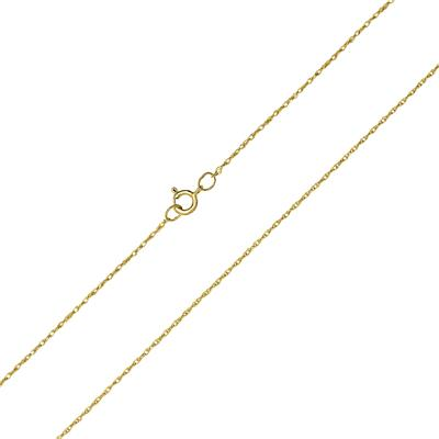 10K Yellow Gold .7MM Shiny Carded Rope Chain with Spring Ring Clasp - 16 Inch