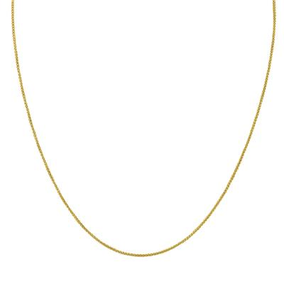 10K Yellow Gold 1MM Wheat Chain with Lobster Clasp - 18 Inch