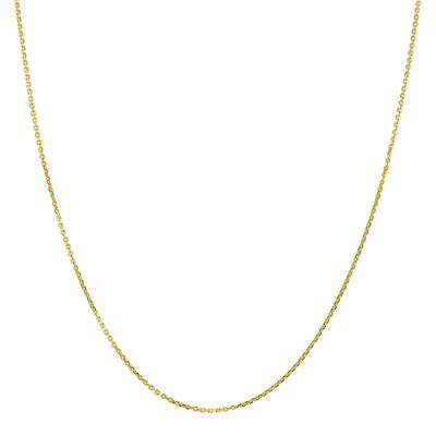 10K Yellow Gold 1.1MM Shiny Cable Chain with Lobster Clasp - 18 Inch