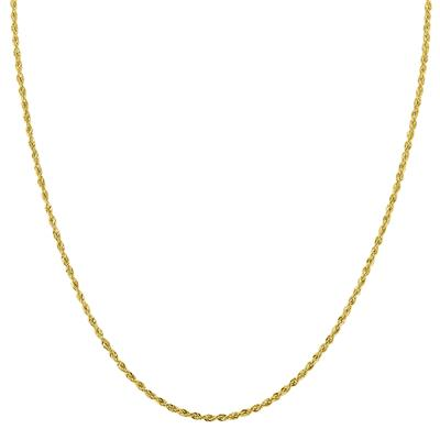 10K Yellow Gold 1.5MM Sparkle Rope Chain With Lobster Clasp - 18 Inch