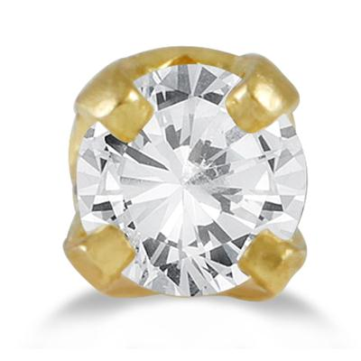 0.05 Carat Diamond Nose Ring Body Jewelry 14K Yellow Gold