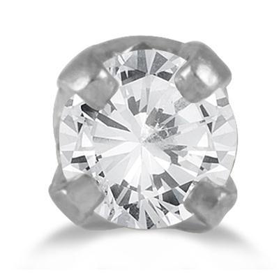 0.05 Carat Diamond Nose Ring Body Jewelry 14K white Gold