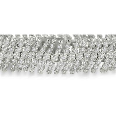 3 Carat Diamond Bracelet in .925 Sterling Silver