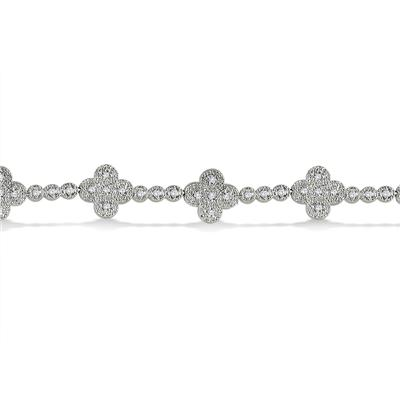 1/2 Carat T.W Diamond Bracelet in .925 Sterling Silver
