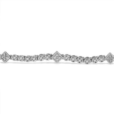 7/8 Carat TW Diamond Bracelet in .925 Sterling Silver
