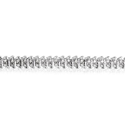 2 Carat TW Diamond Tennis Bracelet in .925 Sterling Silver