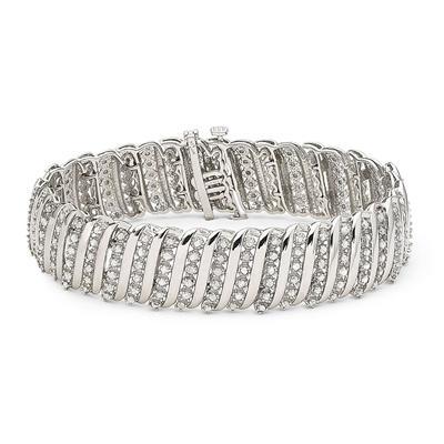 5 Carat Diamond Tennis Bracelet in .925 Sterling Silver