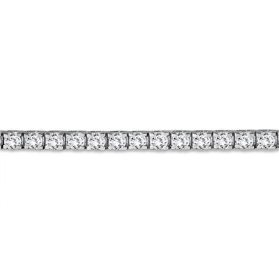 AGS Certified 5 Carat TW Classic Diamond Tennis Bracelet in 14K White Gold