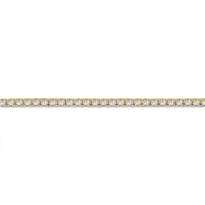 2 Carat TW Classic Diamond Tennis Bracelet in 10K Yellow Gold