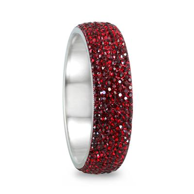 Red Crystal Rhinestone Bangle