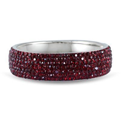 Red Crystal Rhinestone Bangle