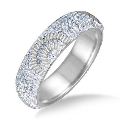 White Crystal Gatsby Inspired Rhinestone Bangle