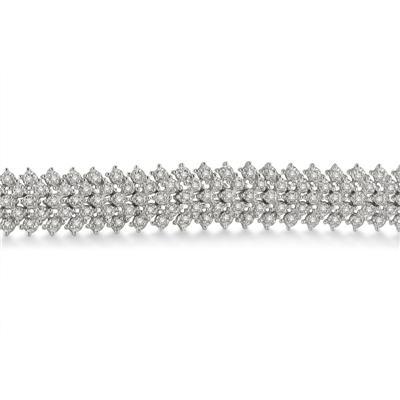 2.00 Carat Diamond Bracelet in Platinum Plated Brass