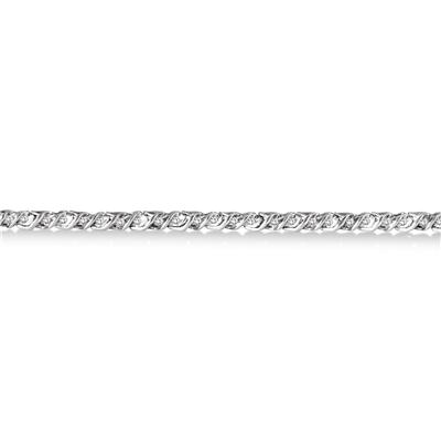 1/3 Carat Diamond Link Bracelet in .925 Sterling Silver