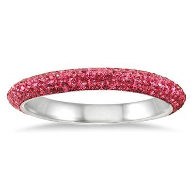 Pink Crystal Rhinestone Medium Bangle