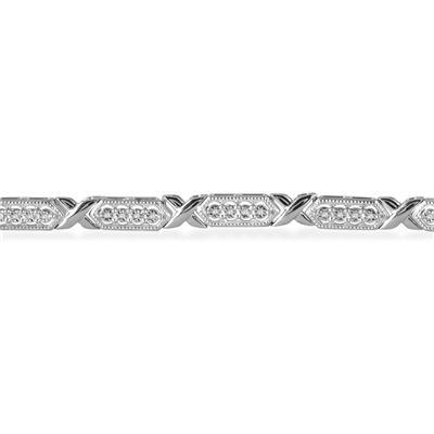 1/4 Carat Diamond Bracelet in .925 Sterling Silver