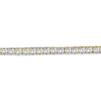 AGS Certified 11 Carat TW Classic Diamond Tennis Bracelet in 14K Yellow Gold