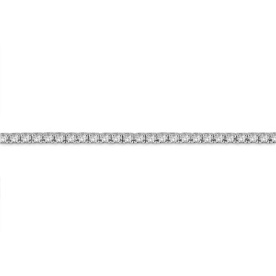 AGS Certified 3 Carat TW Classic Diamond Tennis Bracelet in 14K White Gold