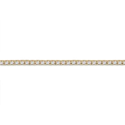 AGS Certified 3 Carat TW Classic Diamond Tennis Bracelet in 14K Yellow Gold