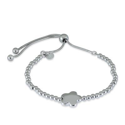 Clover Bolo Bracelet in .925 Sterling Silver