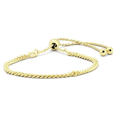 Bolo Rope Bracelet in Yellow Plated .925 Sterling Silver
